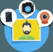 Ausgangsfoto aufnehmen mit Smartphone, Kamera oder Webcam