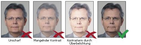 Schärfe & Kontrast bei biometrischen Passbildern
