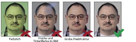 Fotoqualität bei biometrischen Passbildern