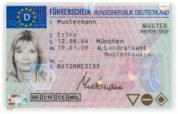 Bild vom aktuellen Führerschein