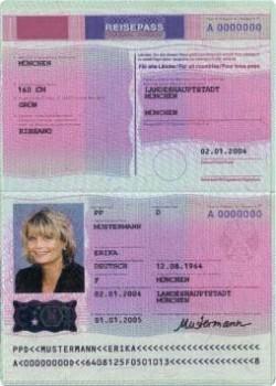 Bild von einem vorläufigen Reisepass