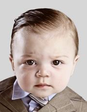 Übertrieben biometrisches Babyfoto